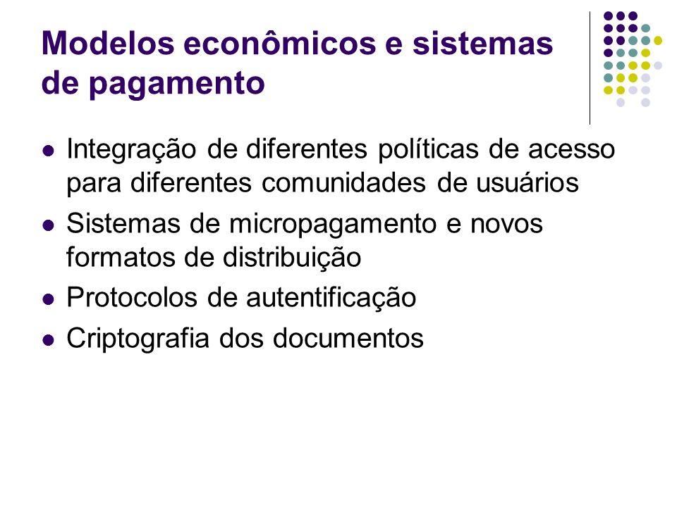 Modelos econômicos e sistemas de pagamento