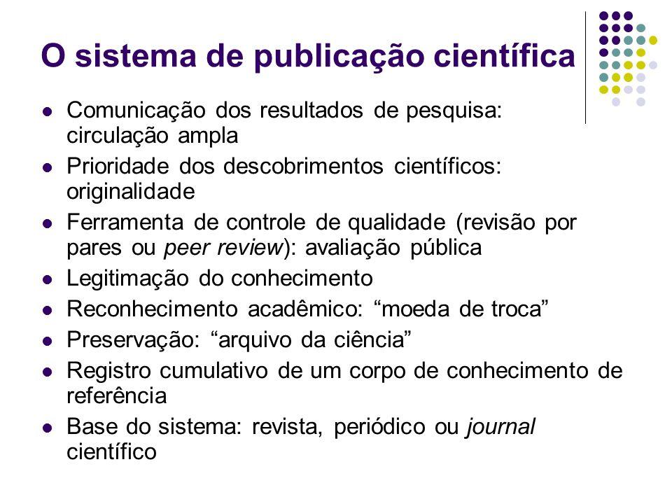 O sistema de publicação científica