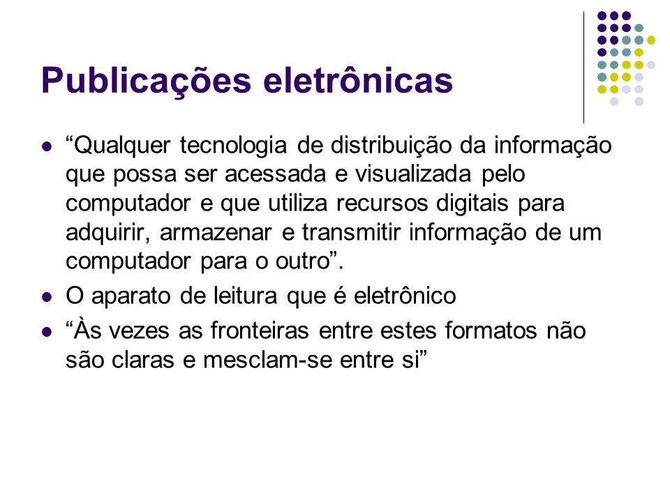 Publicações eletrônicas