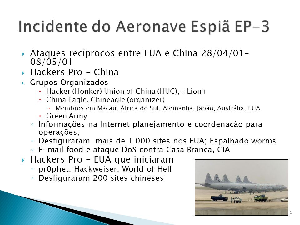 Incidente do Aeronave Espiã EP-3