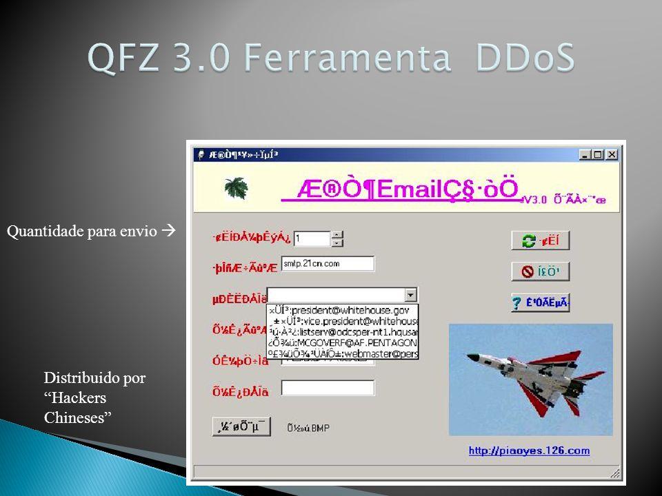 QFZ 3.0 Ferramenta DDoS Quantidade para envio 
