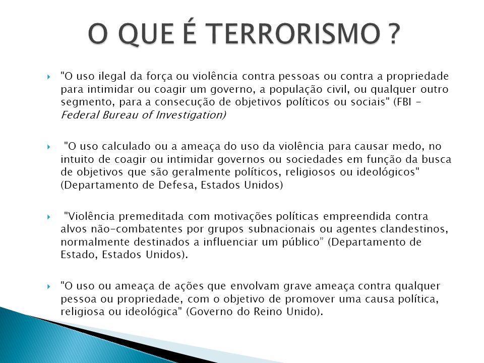 O QUE É TERRORISMO