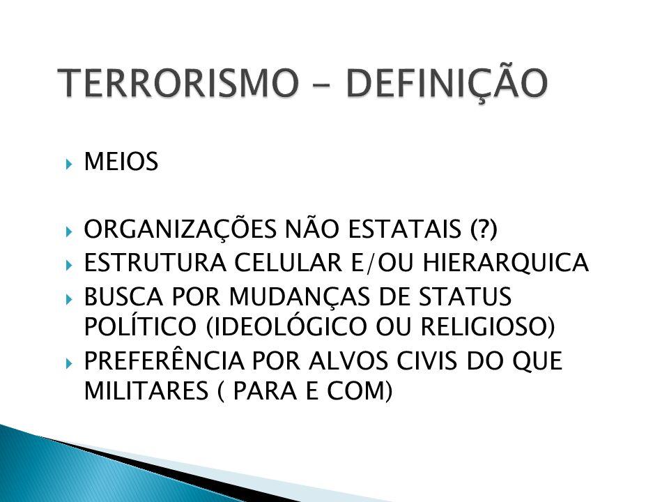 TERRORISMO - DEFINIÇÃO