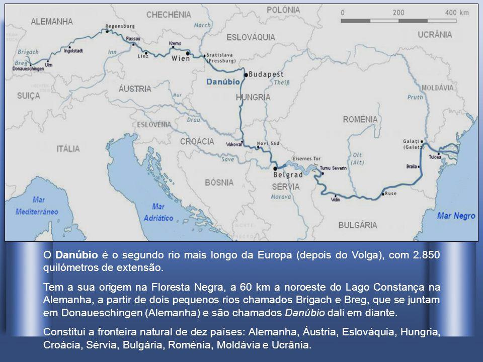 O Danúbio é o segundo rio mais longo da Europa (depois do Volga), com 2.850 quilómetros de extensão.