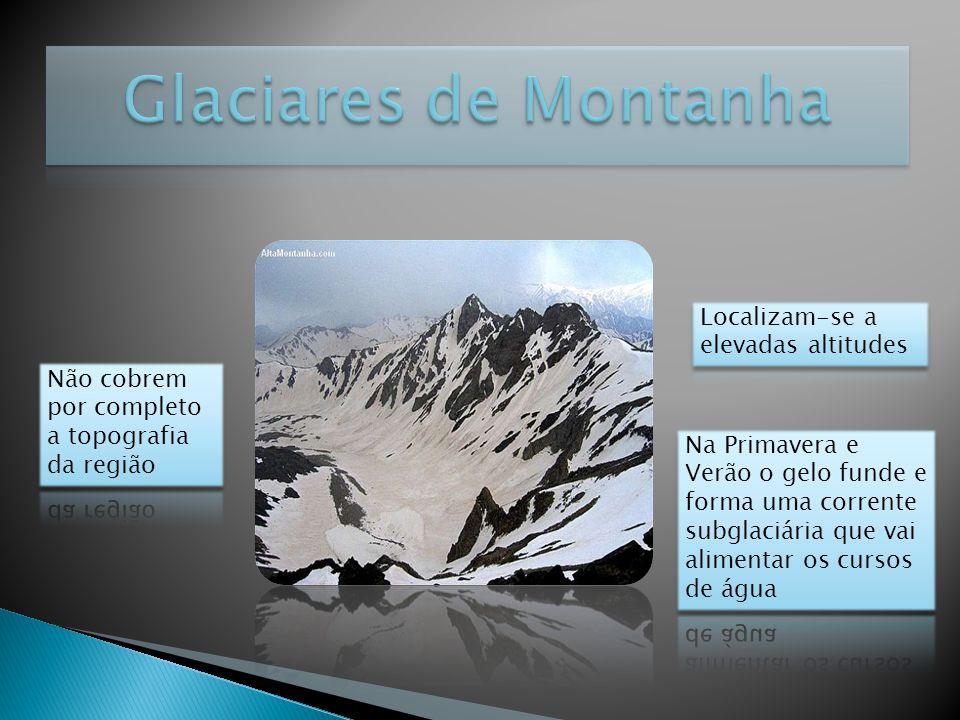 Glaciares de Montanha Localizam-se a elevadas altitudes