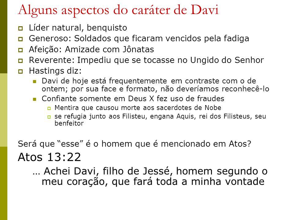 Alguns aspectos do caráter de Davi