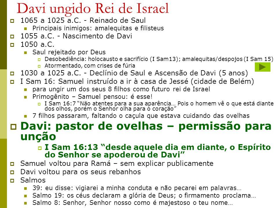 Davi ungido Rei de Israel