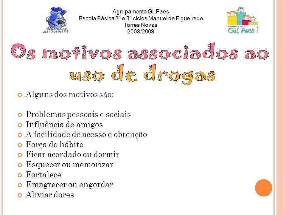 Os motivos associados ao uso de drogas