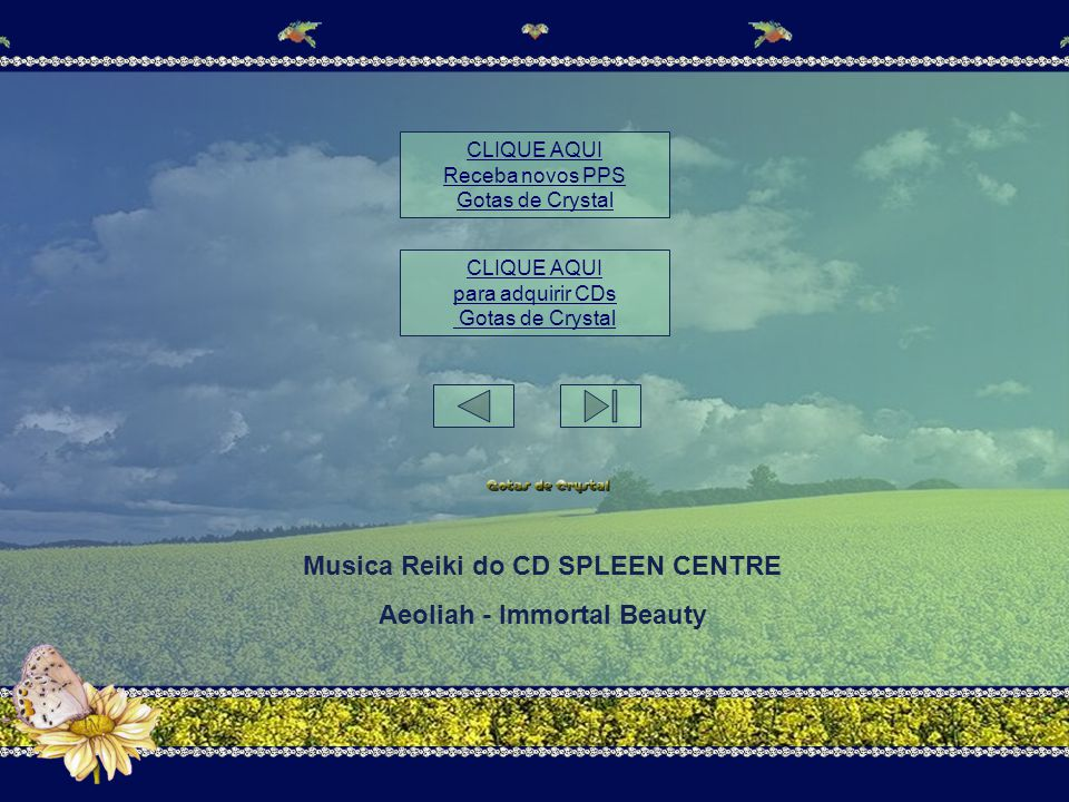 Musica Reiki do CD SPLEEN CENTRE Aeoliah - Immortal Beauty