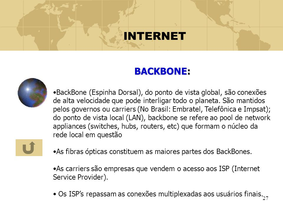 INTERNET BACKBONE: