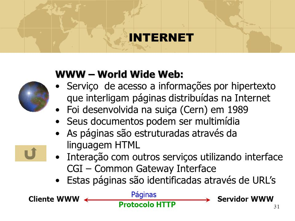 INTERNET WWW – World Wide Web: