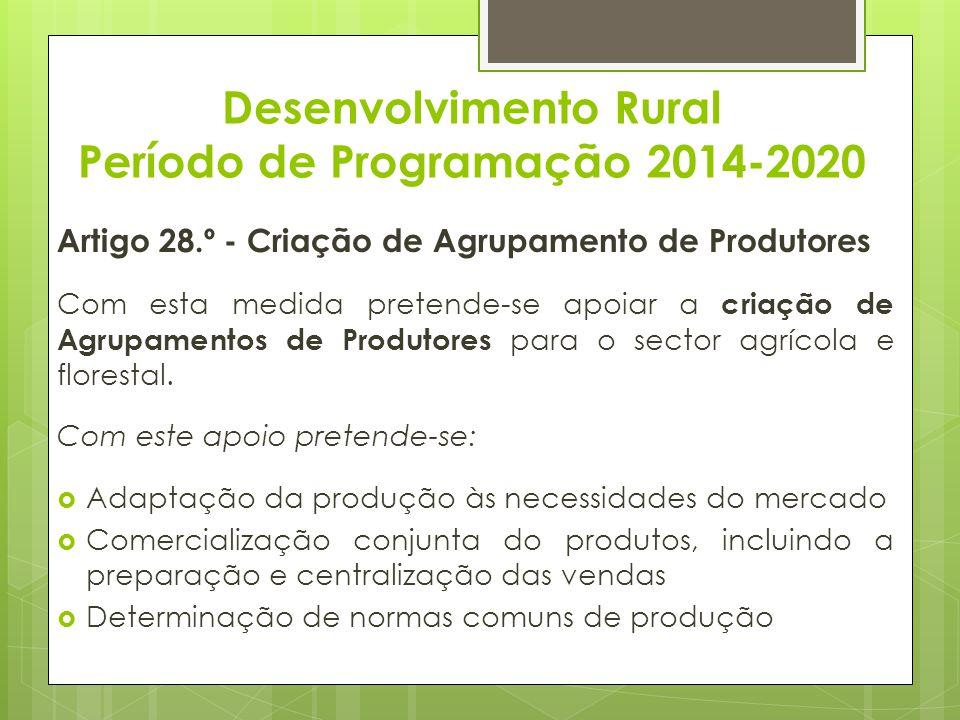 Desenvolvimento Rural Período de Programação 2014-2020