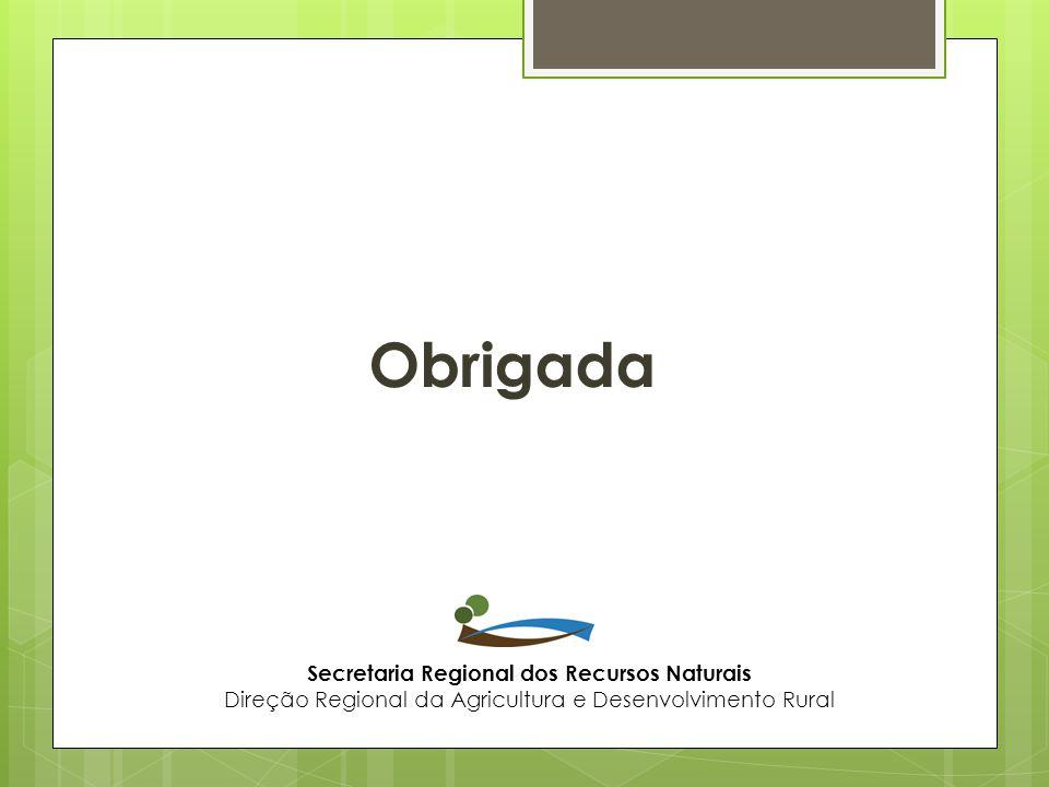 Obrigada Secretaria Regional dos Recursos Naturais
