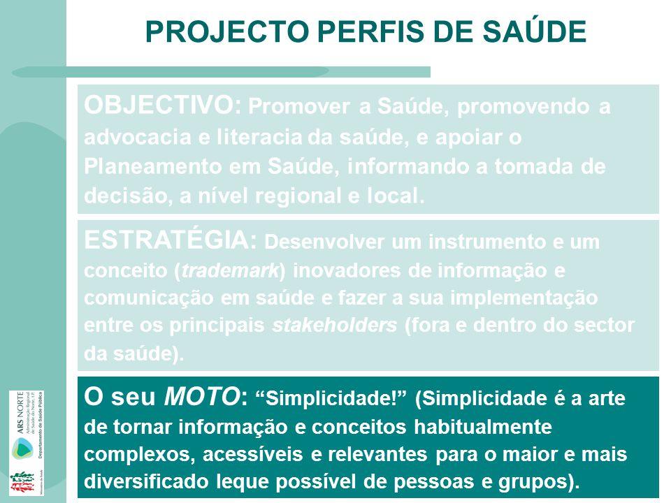 PROJECTO PERFIS DE SAÚDE