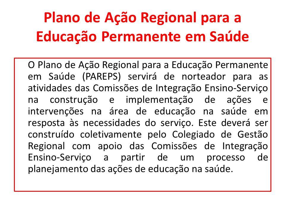 Plano de Ação Regional para a Educação Permanente em Saúde