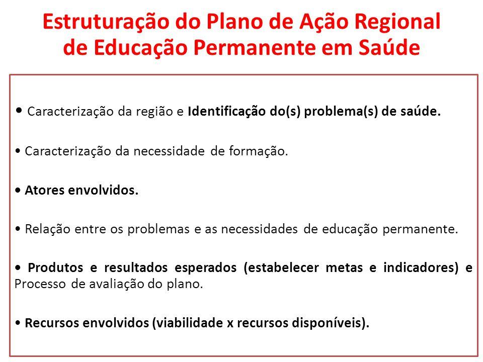 Estruturação do Plano de Ação Regional de Educação Permanente em Saúde