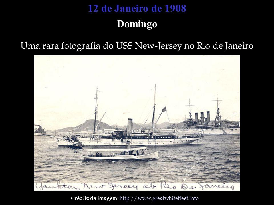 12 de Janeiro de 1908 Domingo. Uma rara fotografia do USS New-Jersey no Rio de Janeiro.