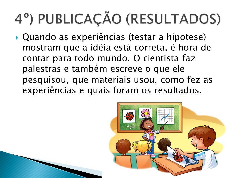 4º) PUBLICAÇÃO (RESULTADOS)