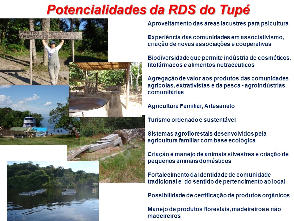 Potencialidades da RDS do Tupé