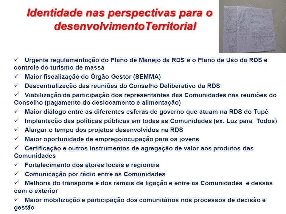 Identidade nas perspectivas para o desenvolvimentoTerritorial