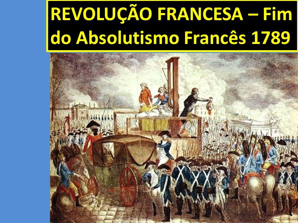 REVOLUÇÃO FRANCESA – Fim do Absolutismo Francês 1789