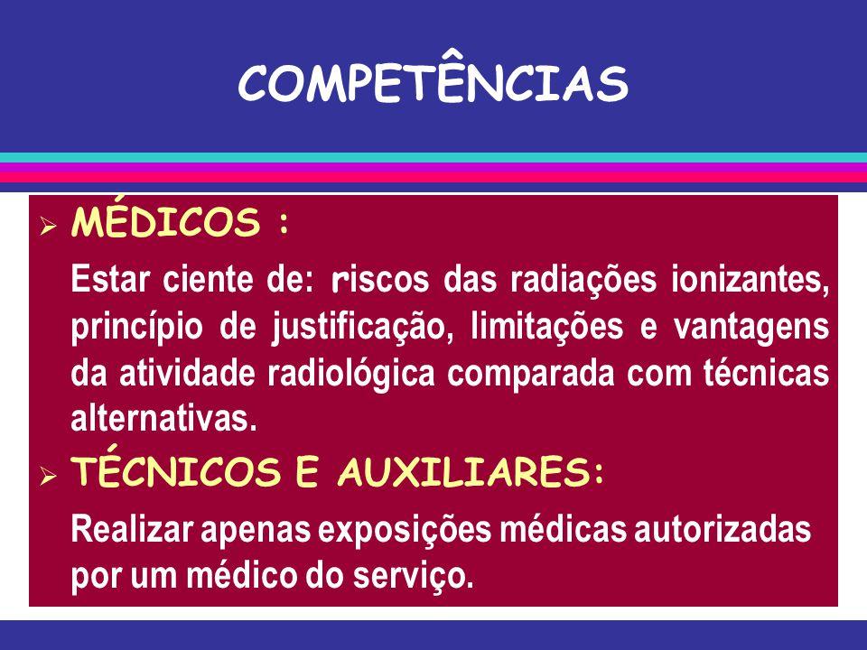 COMPETÊNCIAS MÉDICOS :