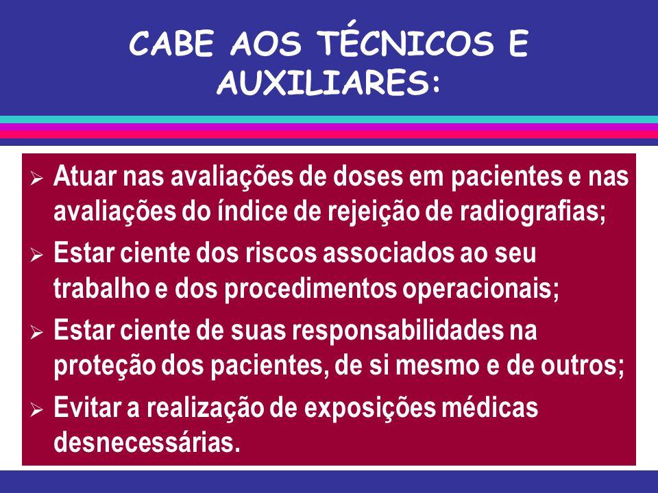 CABE AOS TÉCNICOS E AUXILIARES:
