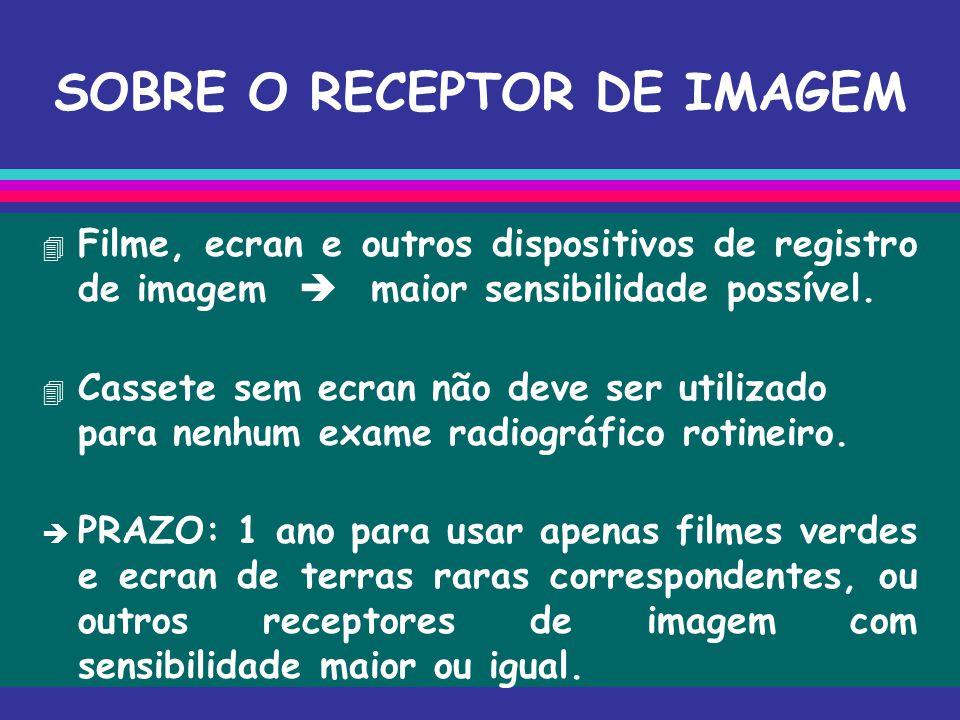 SOBRE O RECEPTOR DE IMAGEM