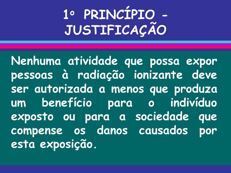 1o PRINCÍPIO - JUSTIFICAÇÃO