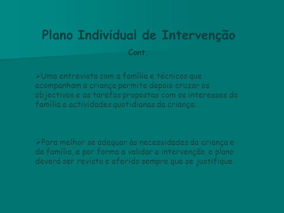 Plano Individual de Intervenção