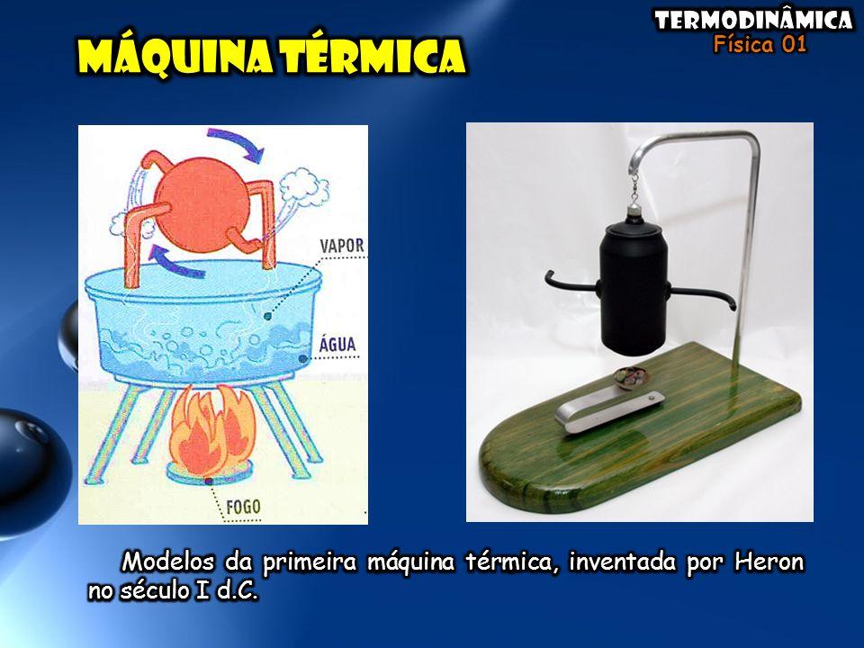 MáQuina térmica Modelos da primeira máquina térmica, inventada por Heron no século I d.C.