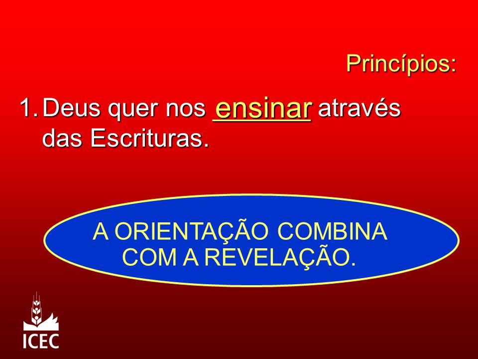 A ORIENTAÇÃO COMBINA COM A REVELAÇÃO.