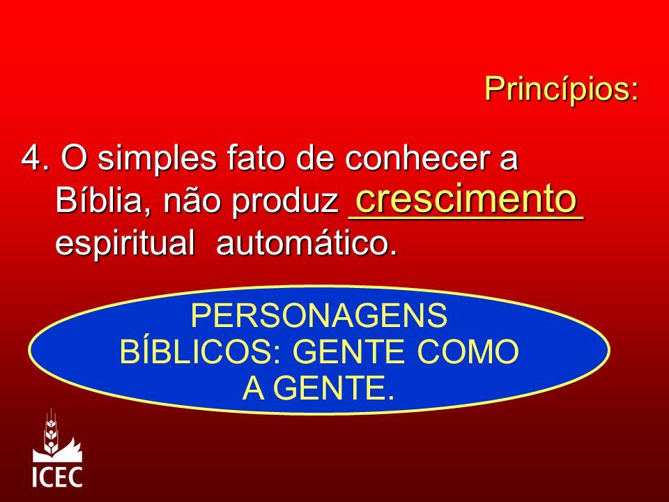 PERSONAGENS BÍBLICOS: GENTE COMO A GENTE.
