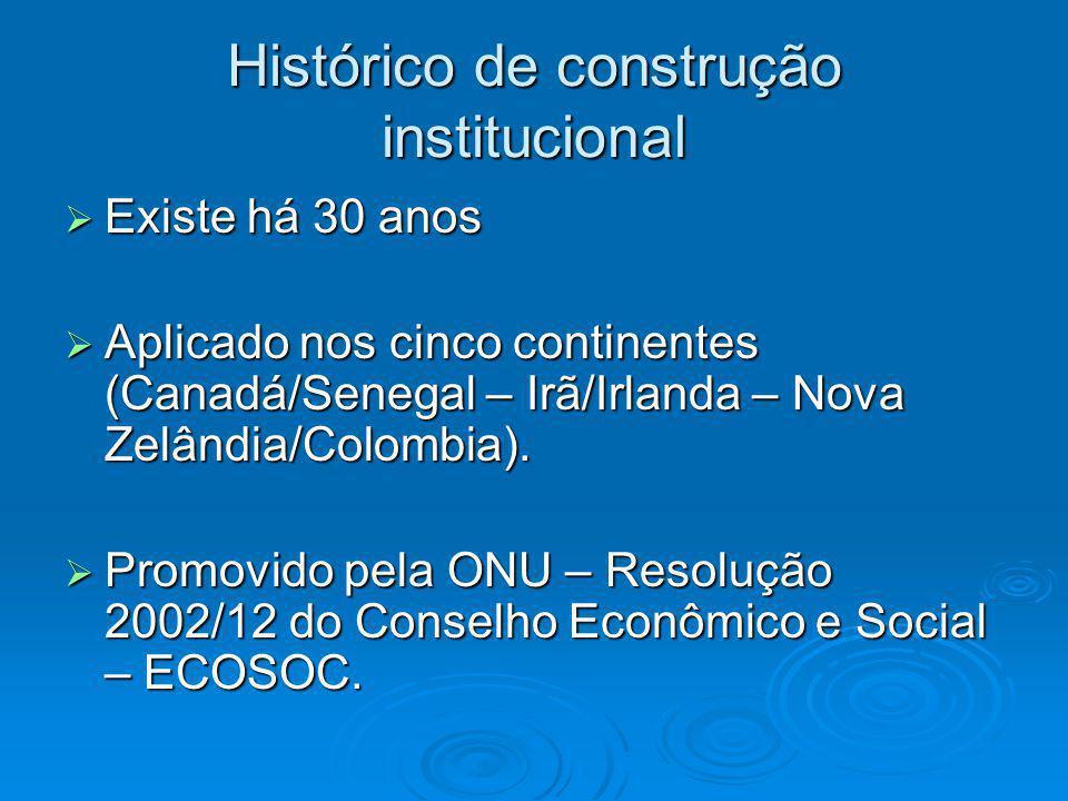 Histórico de construção institucional
