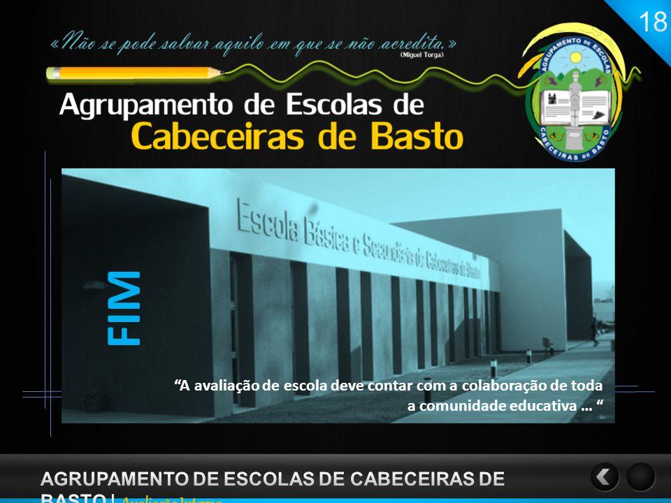 FIM AGRUPAMENTO DE ESCOLAS DE CABECEIRAS DE BASTO | Avaliação Interna