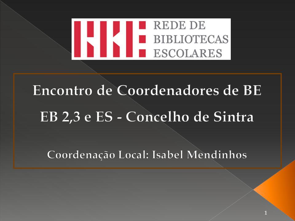 Encontro de Coordenadores de BE EB 2,3 e ES - Concelho de Sintra