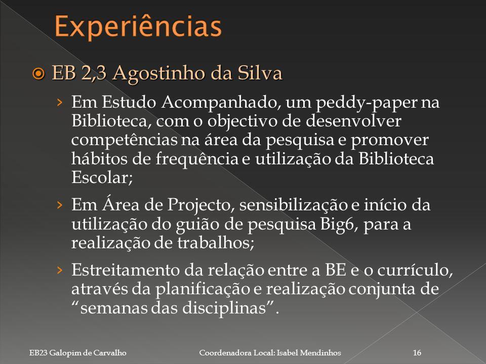 Experiências EB 2,3 Agostinho da Silva