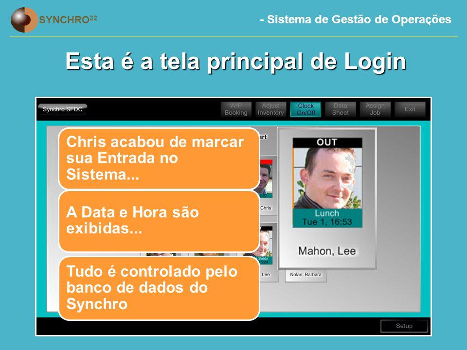 Esta é a tela principal de Login