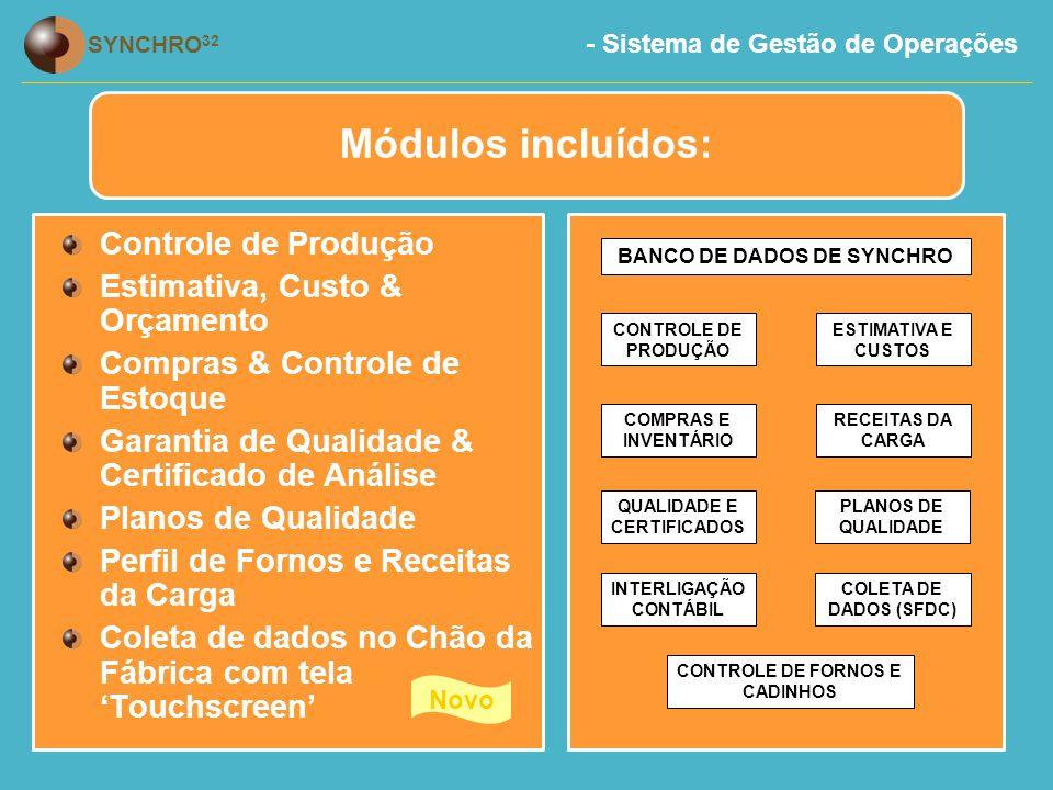Módulos incluídos: Controle de Produção Estimativa, Custo & Orçamento