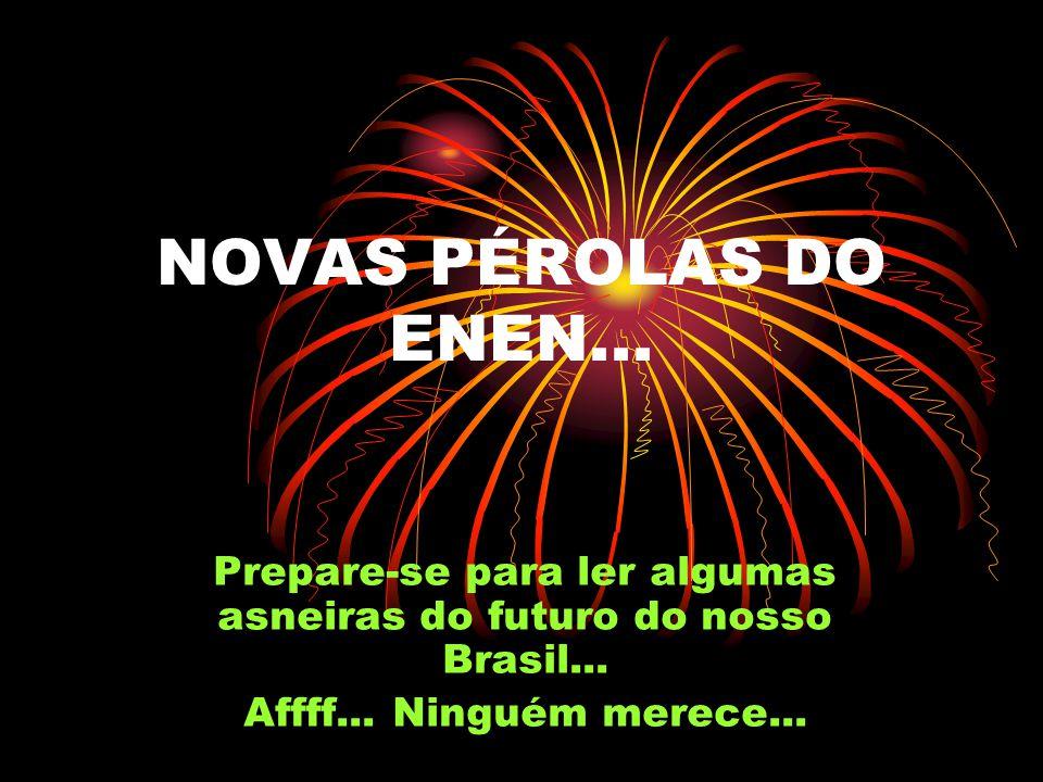 Prepare-se para ler algumas asneiras do futuro do nosso Brasil...
