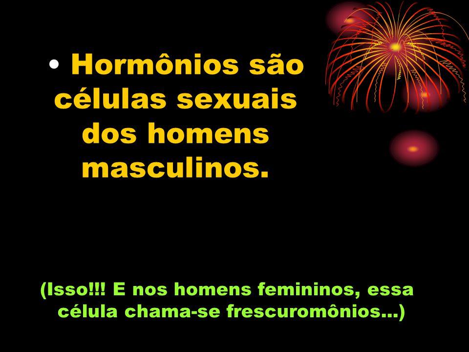 Hormônios são células sexuais dos homens masculinos.