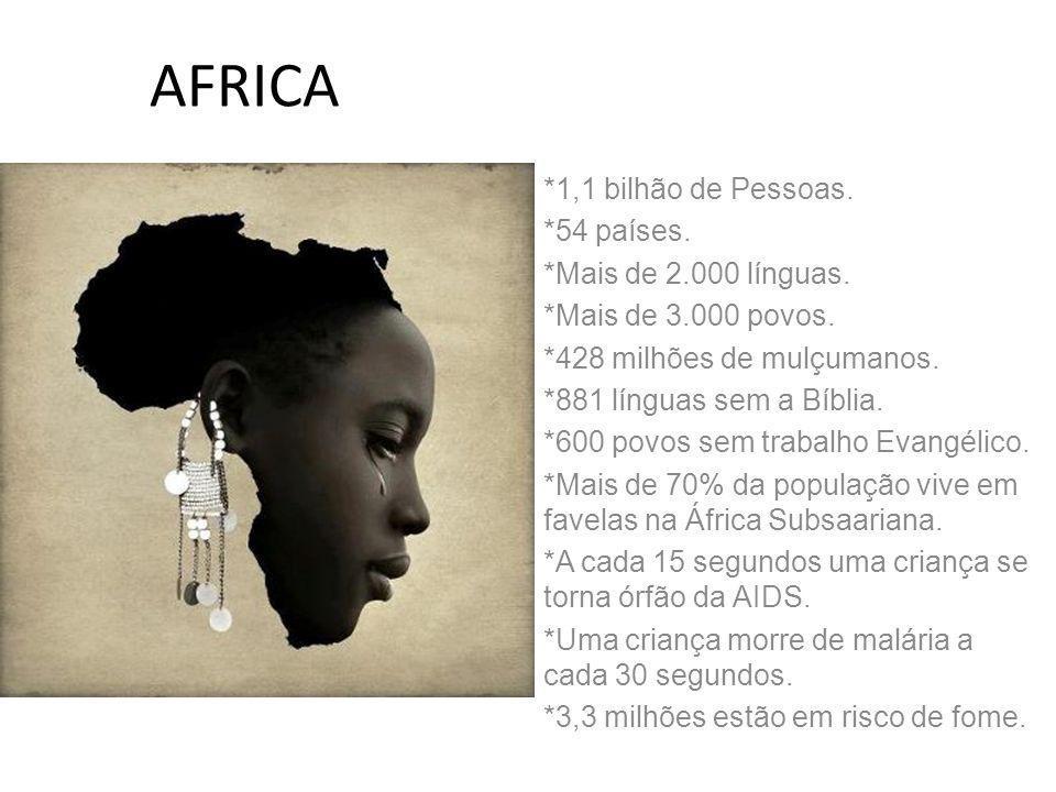 AFRICA *1,1 bilhão de Pessoas. *54 países. *Mais de 2.000 línguas.