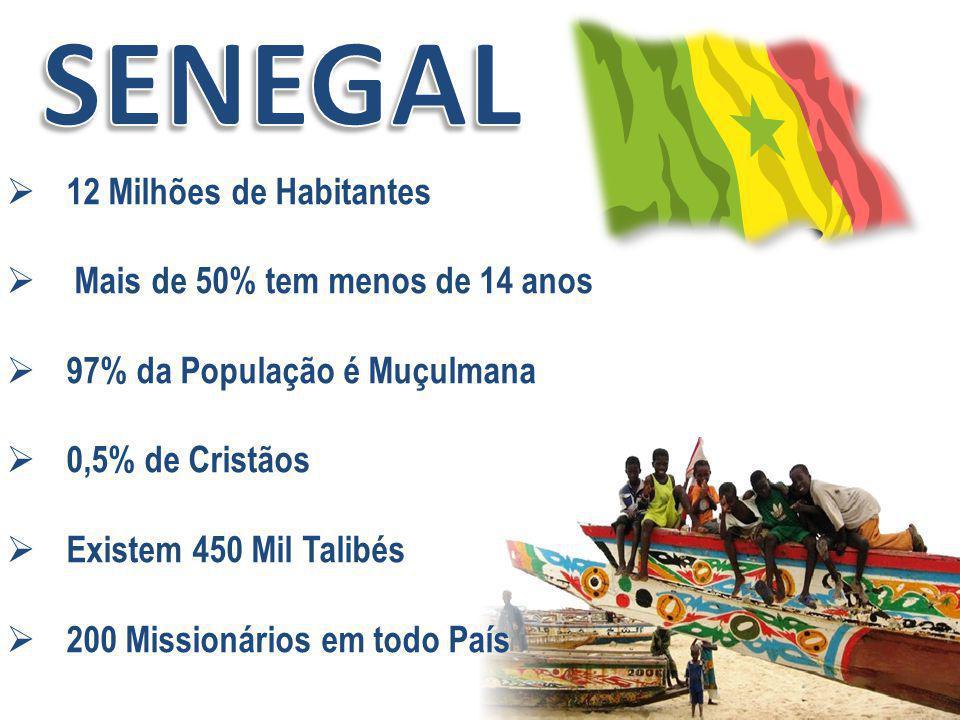 SENEGAL 12 Milhões de Habitantes Mais de 50% tem menos de 14 anos