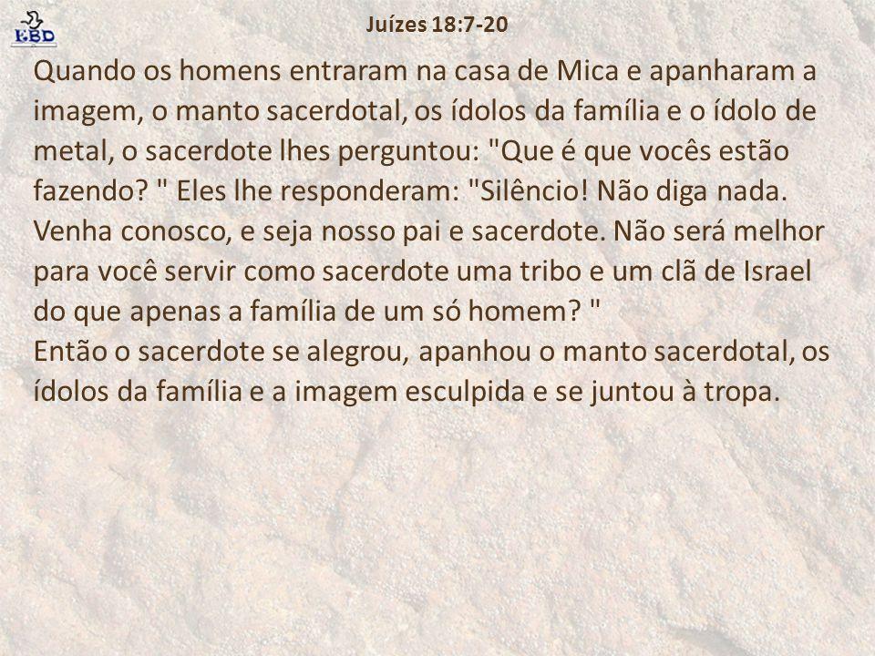 Juízes 18:7-20