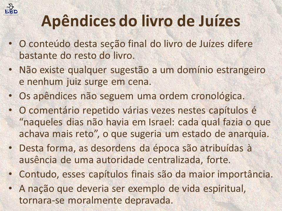 Apêndices do livro de Juízes