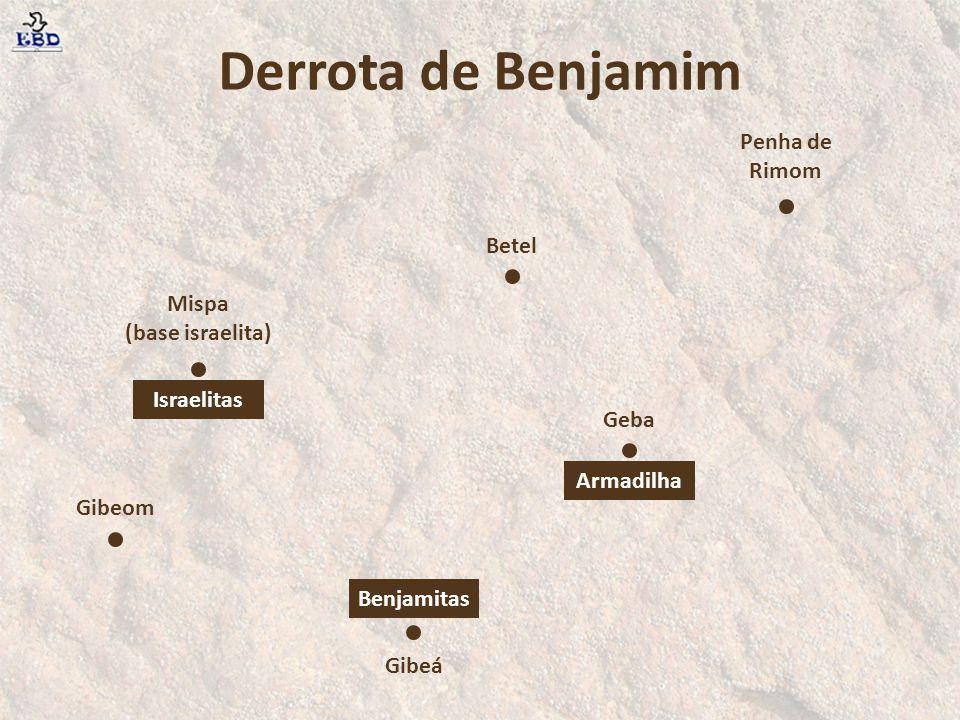 Derrota de Benjamim Penha de Rimom Betel Mispa (base israelita)