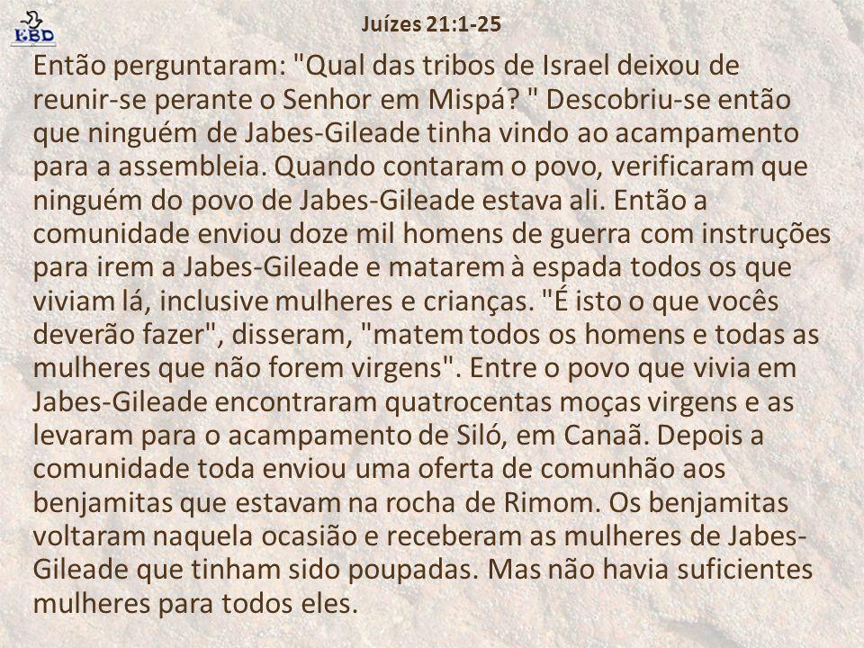 Juízes 21:1-25