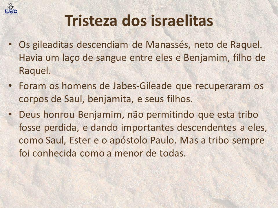 Tristeza dos israelitas