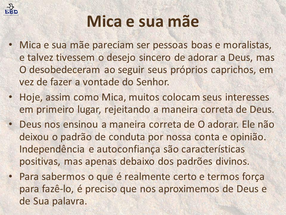 Mica e sua mãe