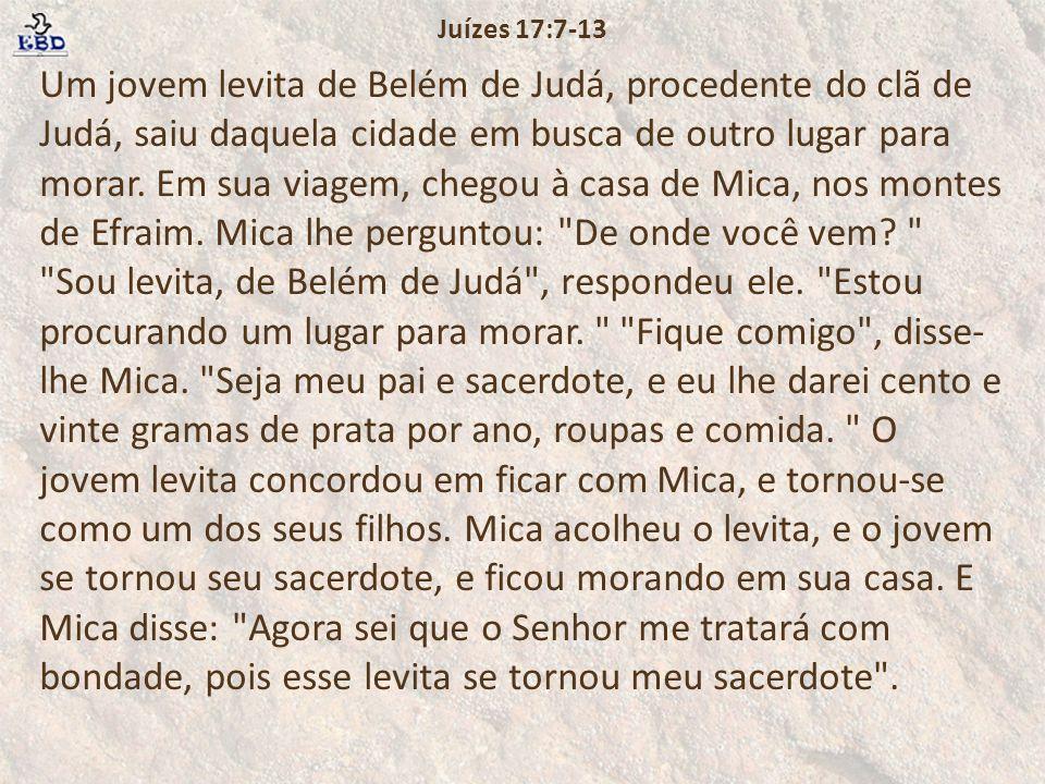 Juízes 17:7-13